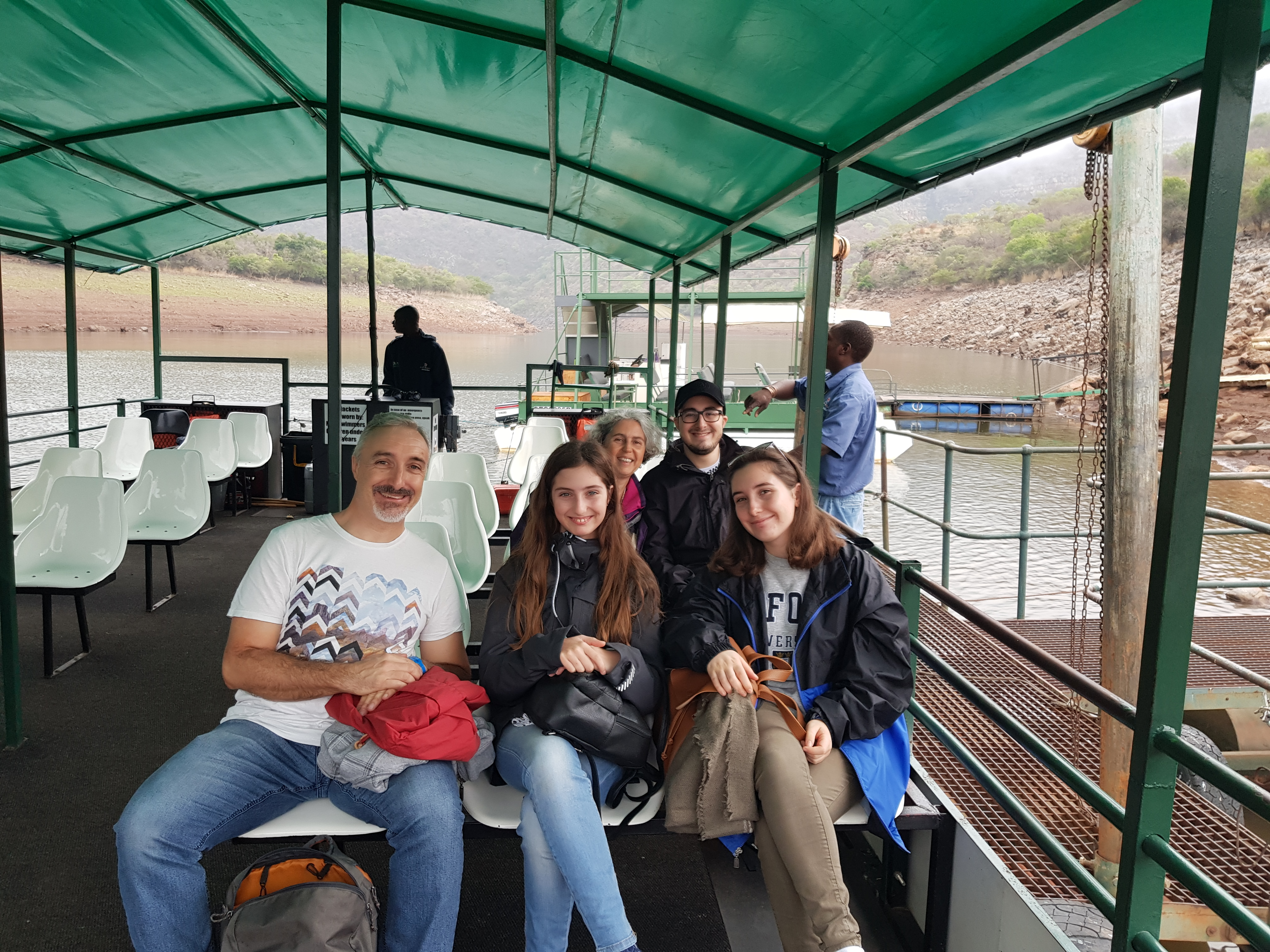 Ferry ride on Blydepoort dam with Italian guests