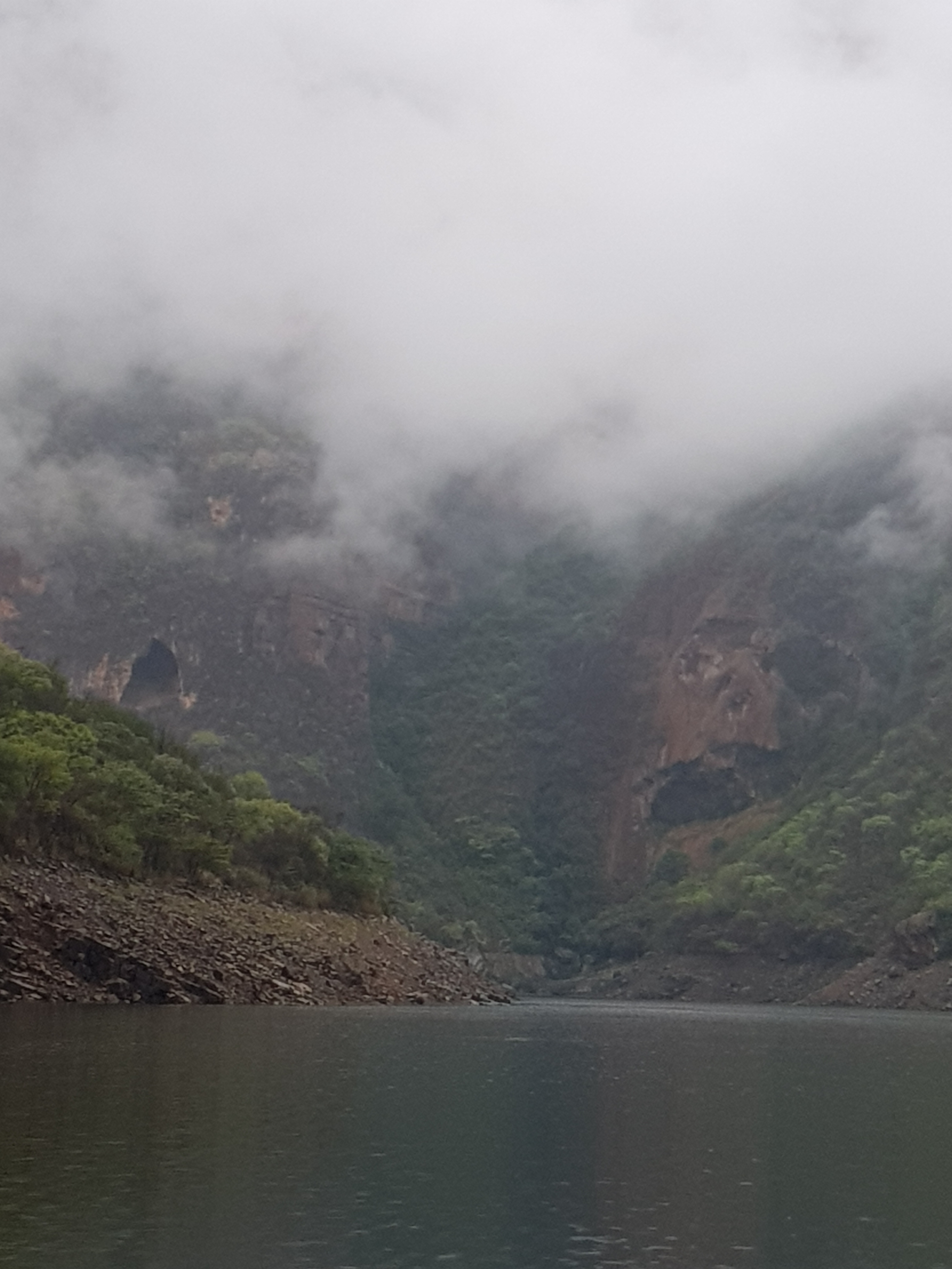 Blydepoort dam with weeping natural mask